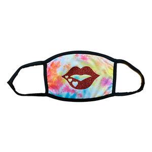 Glitter Lips Tie Dye Mask