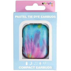 Pastel Tie Dye Blue Tooth Earbuds