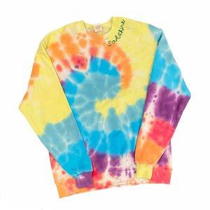 Tie Dye Embroidered Crewneck Sweatshirt