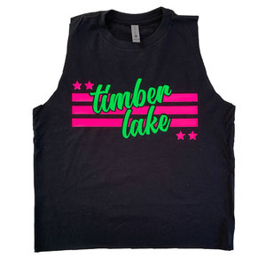 Neon Stars and Stripes Camp Tank