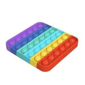 OMG Pop Fidgety Rainbow Square