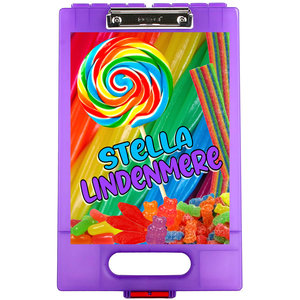 Rainbow Candy Collage Clipboard