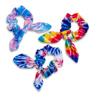 Knotted Tie Dye Scrunchies