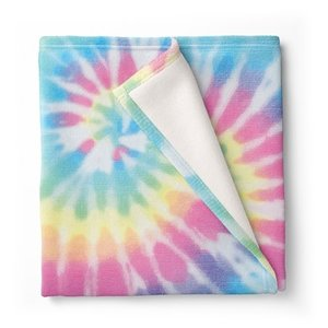 Tie Dye Delight Fuzzy Throw Blanket