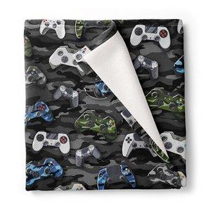 Video Gamer Remotes Fuzzy Throw Blanket
