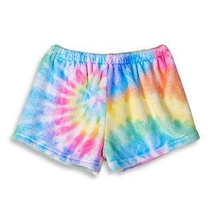 Delight Tie Dye Fuzzy Shorts