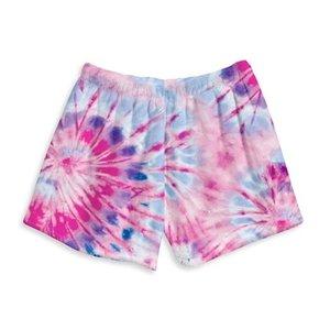 Razzy Tie Dye Fuzzy Shorts