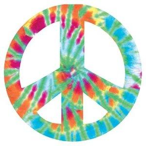 Tie Dye Peace Sign Card
