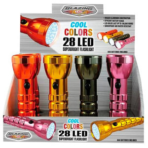 Metallic 28 LED Flashlight