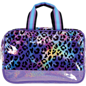 Iridescent Leopard Large Cosmetic Bag