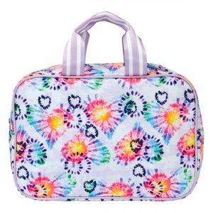 Heart Tie Dye Large Cosmetic Bag