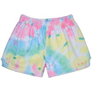 Swirl Tie Dye Fuzzy Shorts
