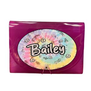 Pastel Tie Dye Swirl 7-Pocket File