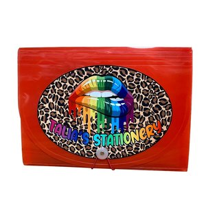 Cheetah Lips 7-Pocket File