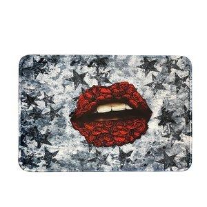 Grunge Star Roses Mat