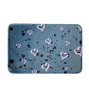 Brushed Hearts Splatter Mat
