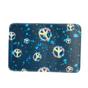 Turquoise Peace Signs Mat