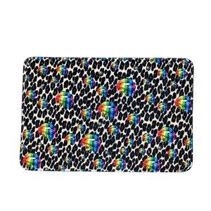 Cheetah Rainbow Lips Mat