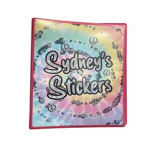 Pastel Tie Dye Swirl Sticker Book