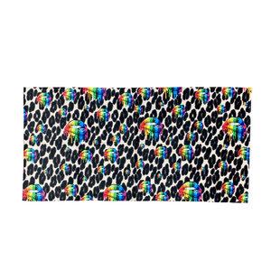 Cheetah Rainbow Lips Towel