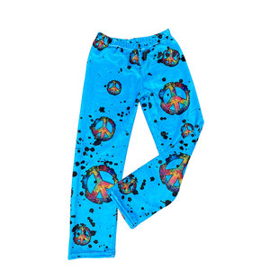 Splatter Peace Fuzzy Pants