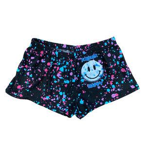 Forever Happy Splatter Thermal Shorts