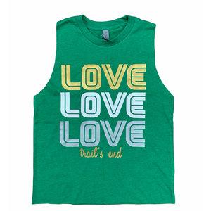 Retro Triple Love Camp Sleeveless Shirt