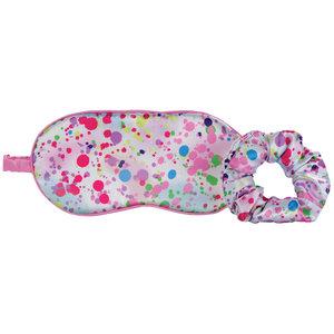 Confetti Silk Eye Mask and Scrunchie Spa Set