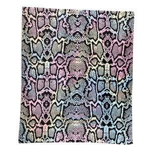 Pastel Snake Skin Blanket