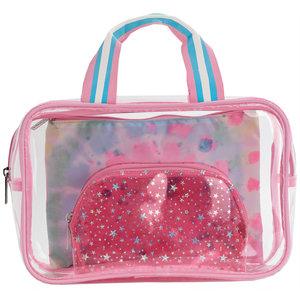 Swirl Tie Dye Cosmetic Bag Set