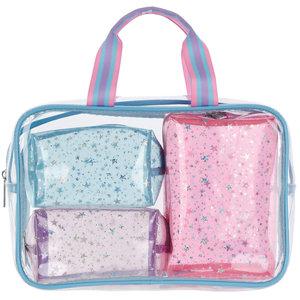 Silver Star Tie Dye Cosmetic Bag Set