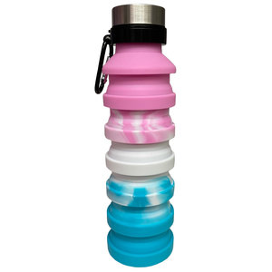 Pink Ombre Collapsible Water Bottle