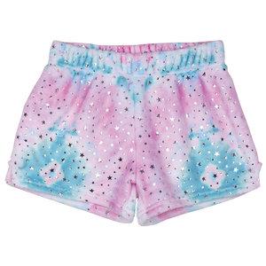 Silver Star Tie Dye Fuzzy Shorts