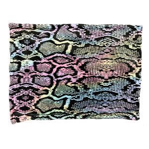 Pastel Snake Skin Name Sham