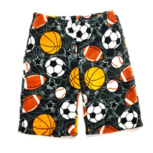 Charcoal Sports Fuzzy Shorts
