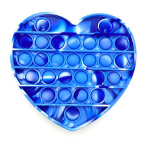 Blue Tie Dye Heart Pop It