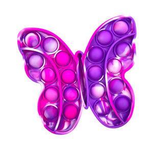 Pink and Purple Tie Dye Butterfly Pop It