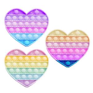 Glitter Heart Pop It