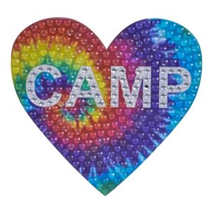 Tie Dye Camp Medium StickerBean