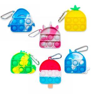 Mini Pop It Tie Dye Key Chains