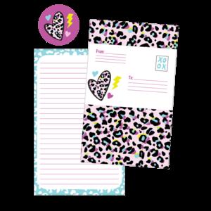 Pink Leopard Foldover Cards