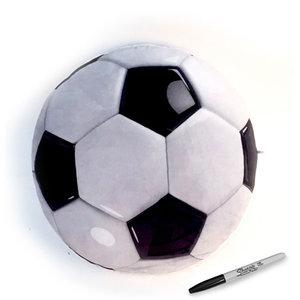 Soccer Plush Autograph Pillow