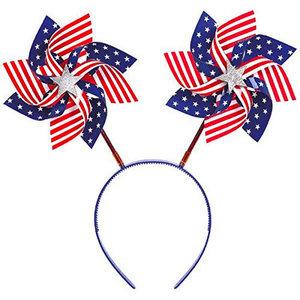 July 4th Pinwheels Headband