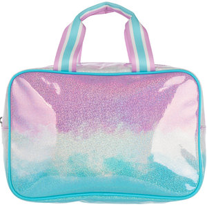 Sparkling Purple Ombre Large Cosmetic Bag