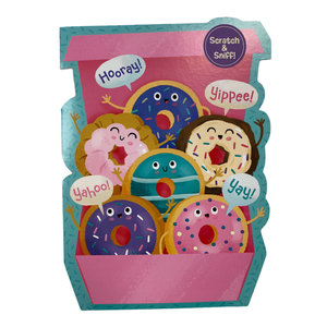 Box of Donuts Scratch n Sniff Card