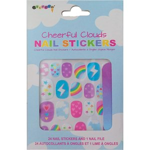 Cheerful Clouds Nail Stickers