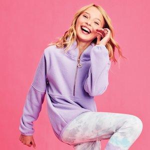 Lavender Half Zip Pullover