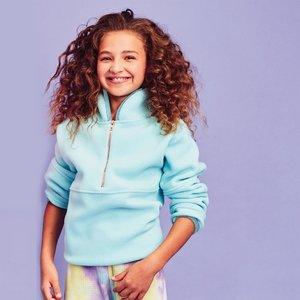 Aqua Half Zip Pullover