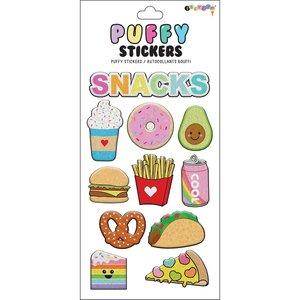 Snacks Puffy Stickers