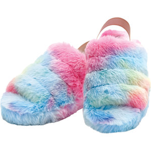 Rainbow Furry Slippers